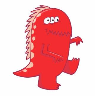 monstruo observado de Dino del rojo tres Esculturas Fotograficas