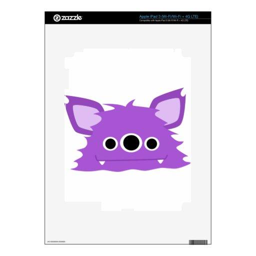 Monstruo observado de la púrpura tres iPad 3 skins