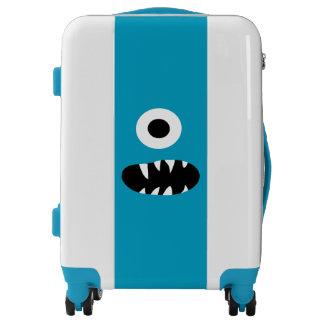 Monstruo observado del azul el divertido de la maletas