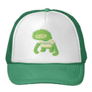 Monstruo peludo verde gorras de camionero