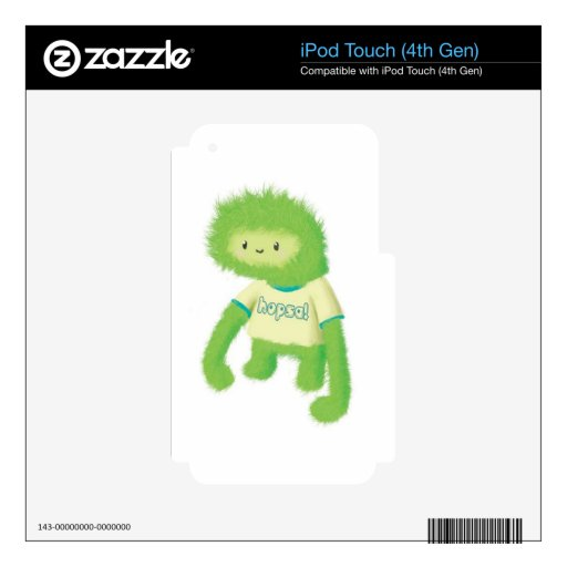 Monstruo peludo verde iPod touch 4G skins