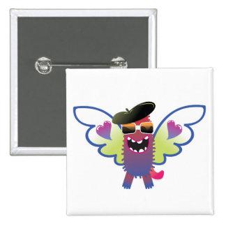 monstruo psicodélico del ángel del hippie pins