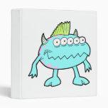 monstruo punky azul del mohawk muchos ojos