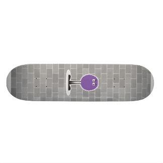 monstruo púrpura borroso lindo skate board