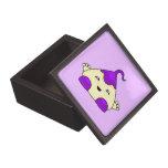 Monstruo púrpura de las cosquillas de Kawaii Cajas De Joyas De Calidad