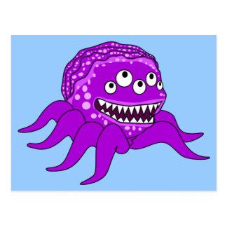 Monstruo púrpura de Octopuss Postales