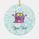 Monstruo púrpura feliz; Lindo Adornos De Navidad