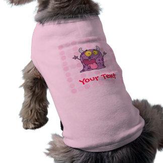 Monstruo púrpura feliz lindo camiseta de mascota