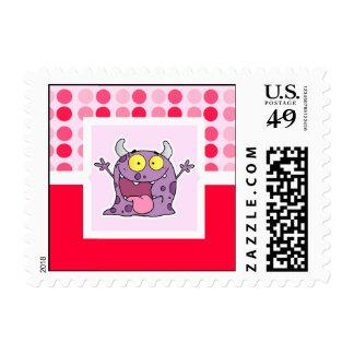 Monstruo púrpura feliz lindo envio