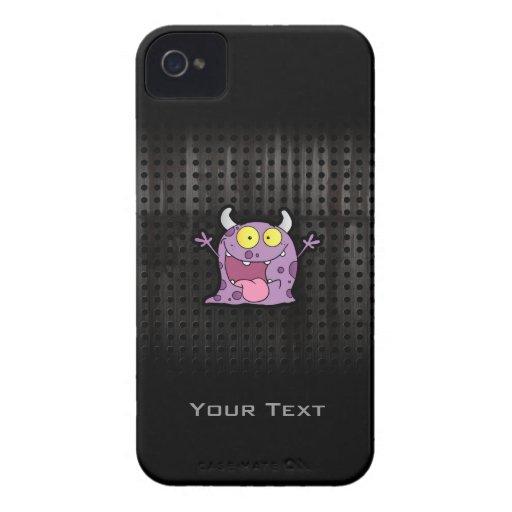 Monstruo púrpura feliz; Rugoso Case-Mate iPhone 4 Funda