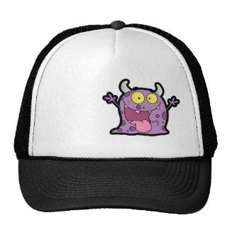 Monstruo púrpura feliz Rugoso Gorros Bordados