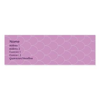 Monstruo púrpura - flaco tarjetas de visita mini
