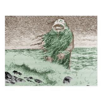 Monstruo que sale del agua tarjetas postales