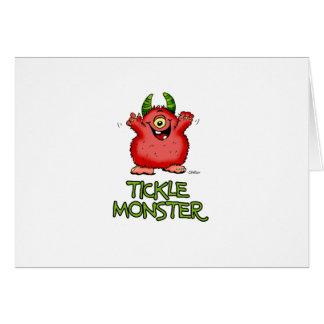 Monstruo rojo lindo de las cosquillas por send2smi tarjetas