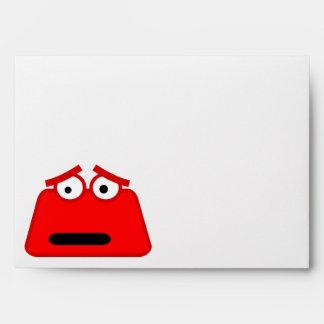 Monstruo rojo lindo del dibujo animado