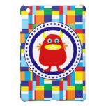 Monstruo rojo lindo en bloques coloridos del remie iPad mini carcasa