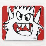Monstruo rojo Mousepad lindo enojado del dibujo an Alfombrillas De Ratón