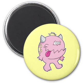 monstruo rosado adorable del chomper de la lengua imán para frigorífico