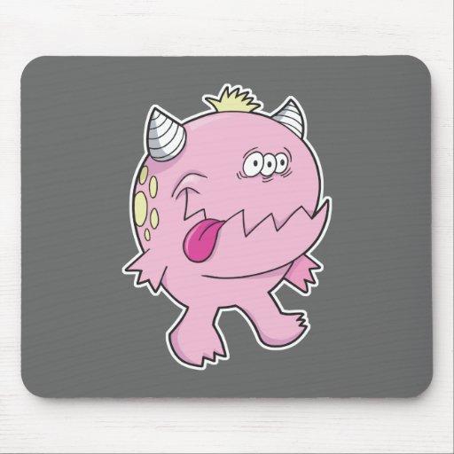 monstruo rosado adorable del chomper de la lengua alfombrillas de raton