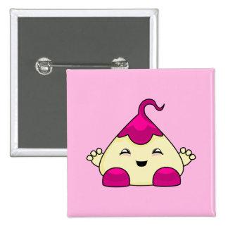 Monstruo rosado de las cosquillas de Kawaii Pin
