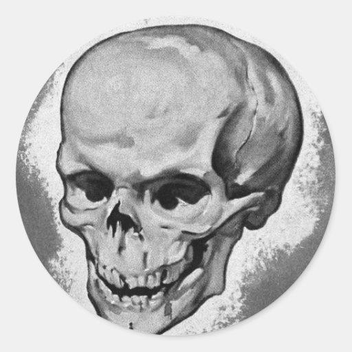 Monstruo 'Skull del vintage del kitsch Pegatinas