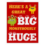 Monstruo tarjeta del feliz cumpleaños grandes 8 x