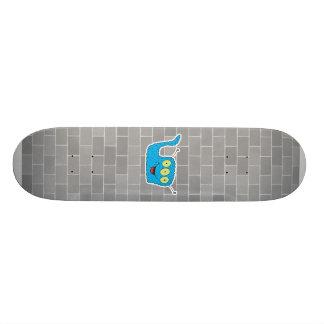 monstruo torpe azul feliz skate board
