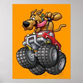 Monstruo Truck1 de Scooby Doo Póster