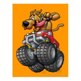 Monstruo Truck1 de Scooby Doo Tarjeta Postal