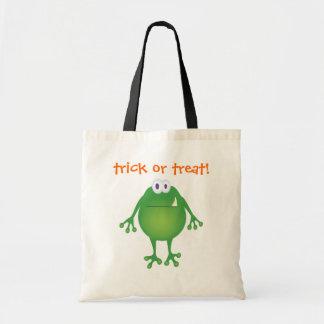 ¡Monstruo, truco o invitación de la rana! Bolsa Tela Barata
