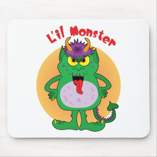 Monstruo verde alfombrilla de raton