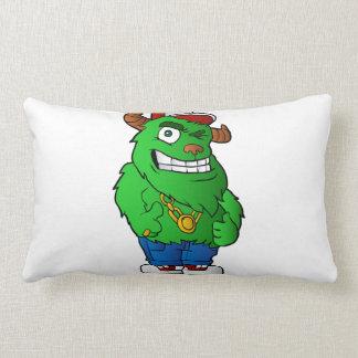 monstruo verde cojín