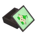 Monstruo verde de las cosquillas de Kawaii Caja De Joyas De Calidad