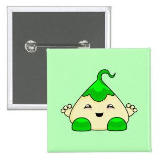 Monstruo verde de las cosquillas de Kawaii Pin
