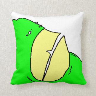 Monstruo verde del diente almohadas