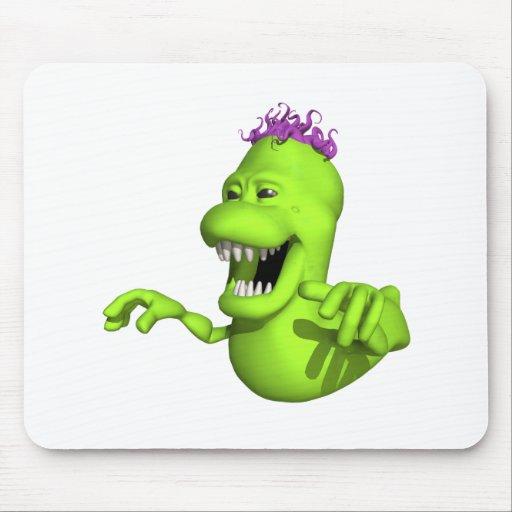 Monstruo verde del limo de Ghostbusters Tapetes De Raton