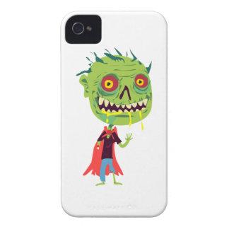 Monstruo verde Drooling observado rojo y amarillo iPhone 4 Case-Mate Coberturas