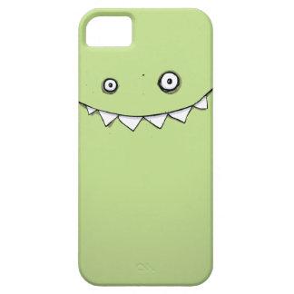 Monstruo verde feliz en mi bolsillo iPhone 5 protectores