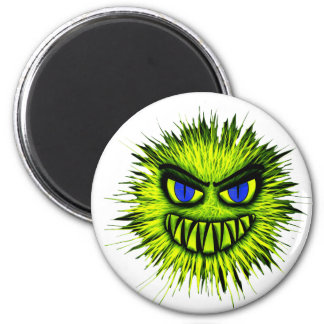 Monstruo verde imán redondo 5 cm