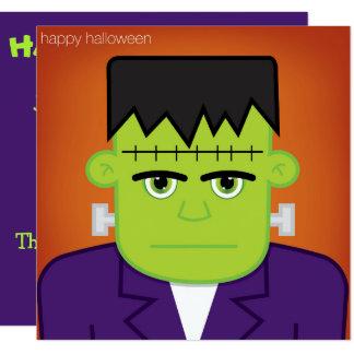 """Monstruo verde invitación 5.25"""" x 5.25"""""""