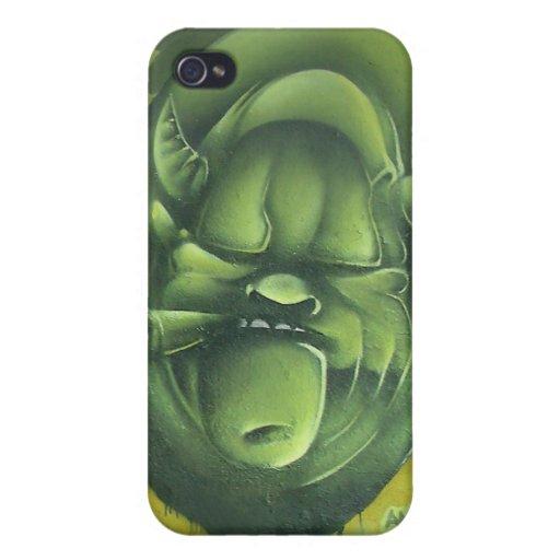 Monstruo verde iPhone 4/4S carcasa