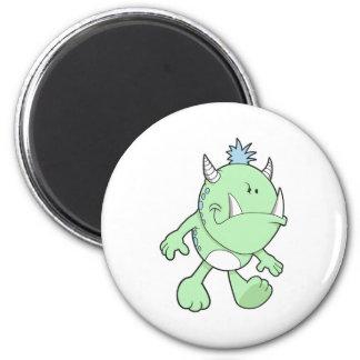 monstruo verde lindo del colmillo que pone mala ca iman para frigorífico