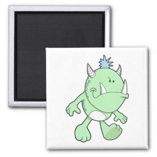 monstruo verde lindo del colmillo que pone mala ca iman de nevera