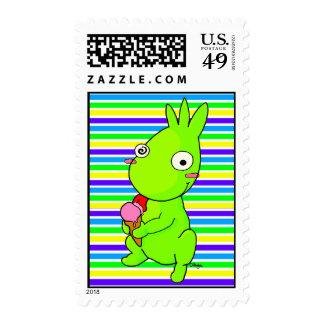 Monstruo verde lindo sello