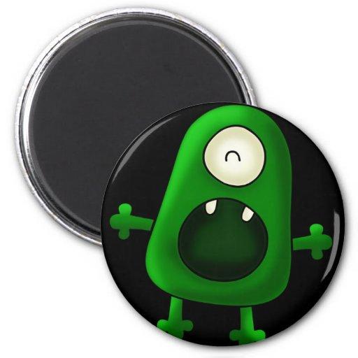 Monstruo verde observado del imán uno