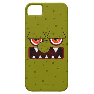 Monstruo verde oliva con la nariz grande, los iPhone 5 fundas