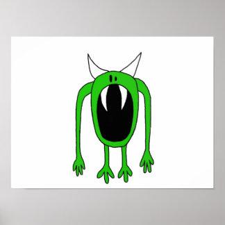 Monstruo verde póster