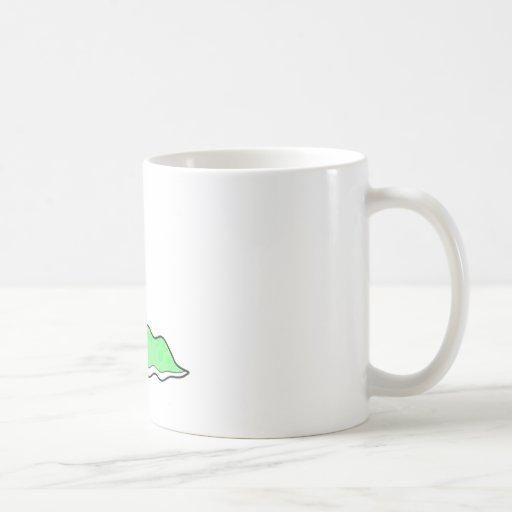 monstruo verde sluggy tonto tazas de café