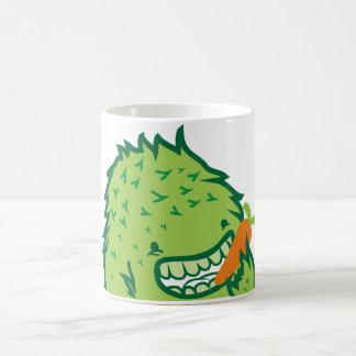 Monstruo verde taza básica blanca