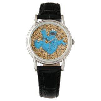 Monstruo y galletas de la galleta del vintage reloj de mano